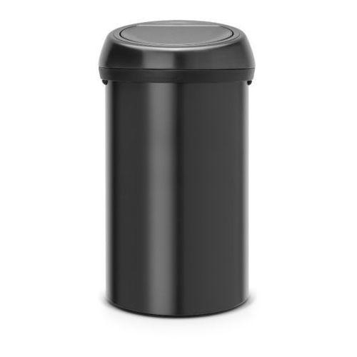 Brabantia - kosz 'touch bin' - pokrywa plastikowa - 60l - czarny - czarny