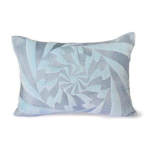 Hkliving poduszka z graficznym wzorem błękitna (35x50) tku2099