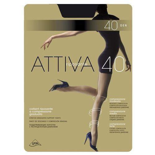 Rajstopy Omsa Attiva 40 den S-XL 5-XL, beżowy/caramello, Omsa, kolor beżowy
