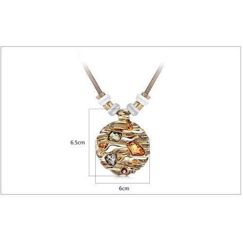 OUTLET Pozpłacany 18k różowym złotem Naszyjnik Wenecki z Australijskimi Kryształkami