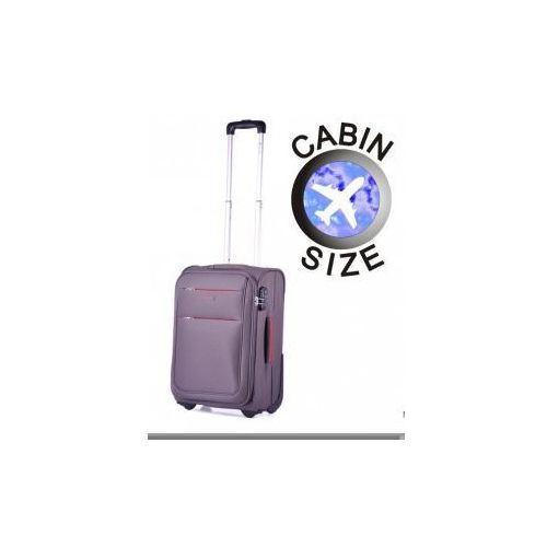 walizka mała/ kabinowa z kolekcji camerino miękka 2 koła materiał polyester zamek szyfrowy marki Puccini