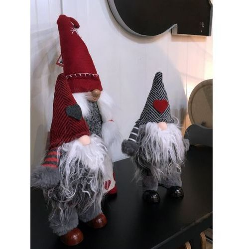 Krasnal świąteczny - szara czapeczka - szary