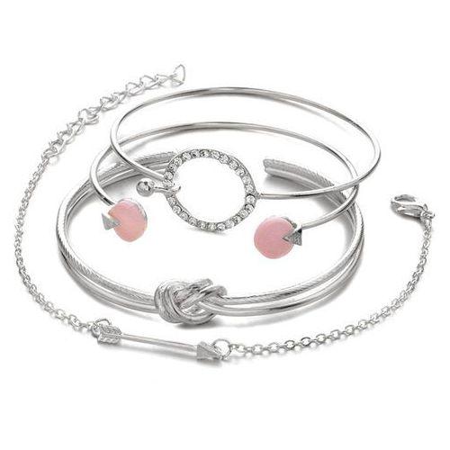 Bransoletka zestaw węzeł strzała srebrna - srebrna marki Cloe