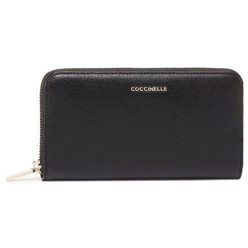 Coccinelle Duży portfel damski - fw1 metallic saffiano e2 fw1 11 04 01 noir 001
