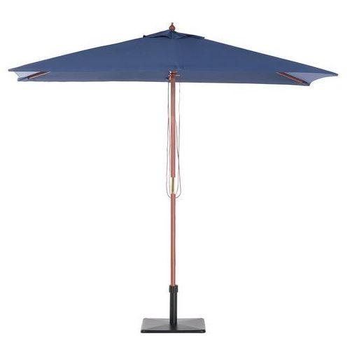 Beliani Parasol ogrodowy - ciemnoniebieski - 244 x 195 cm - drewno – flamenco