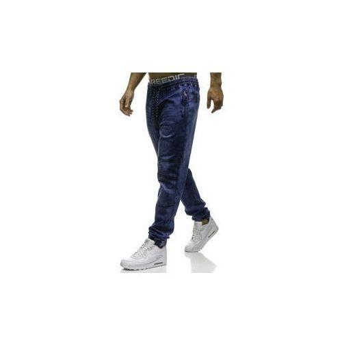 Spodnie jeansowe joggery męskie granatowe denley hy184 marki Red fireball