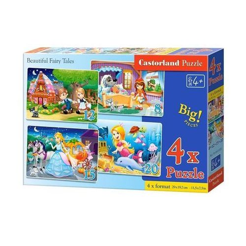 Castor Puzzle 4w1 beautiful fairy tales 8-12-15-20
