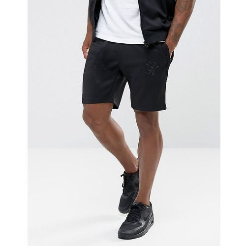 Gym king skinny track shorts in black - black