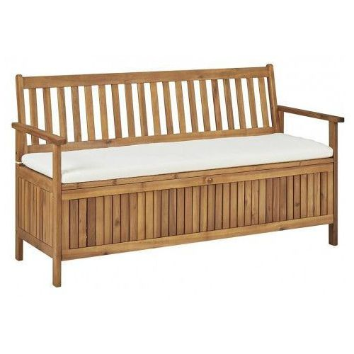 Producent: elior Drewniana ławka ogrodowa canat - brązowa