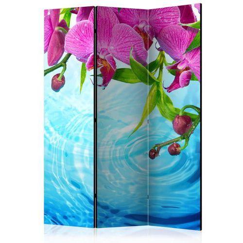 Artgeist Parawan 3-częściowy - storczyki nad wodą [room dividers]