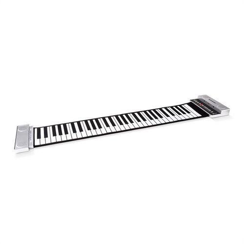 Rozwijane pianino stereo 61 klawiszy srebrne marki Schubert