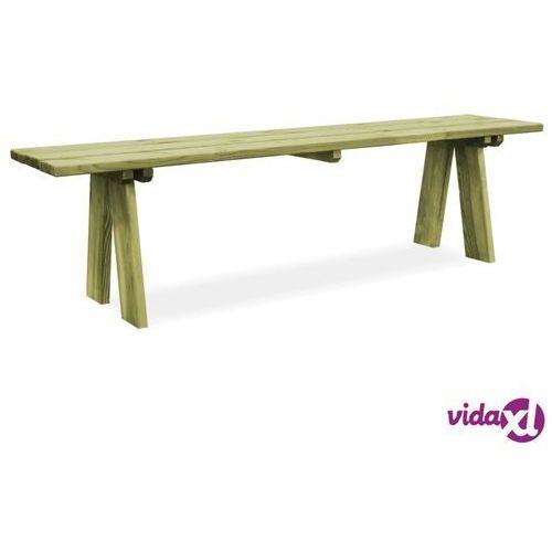 vidaXL Ławka ogrodowa, 170 cm, impregnowane drewno sosnowe FSC, vidaxl_45147
