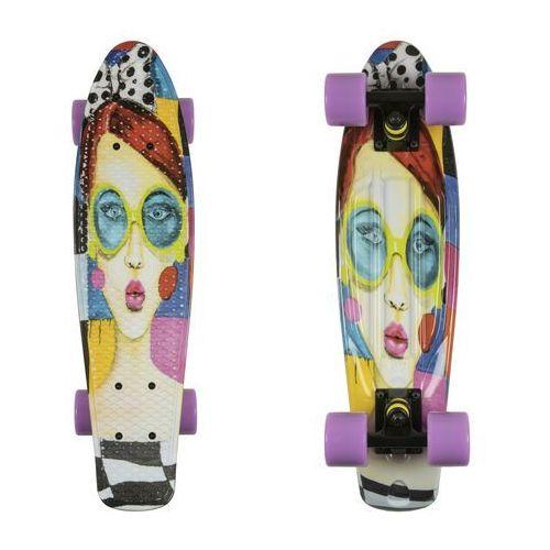 Deskorolka fishskateboards art fish face / black / summer purple marki Fish skateboards