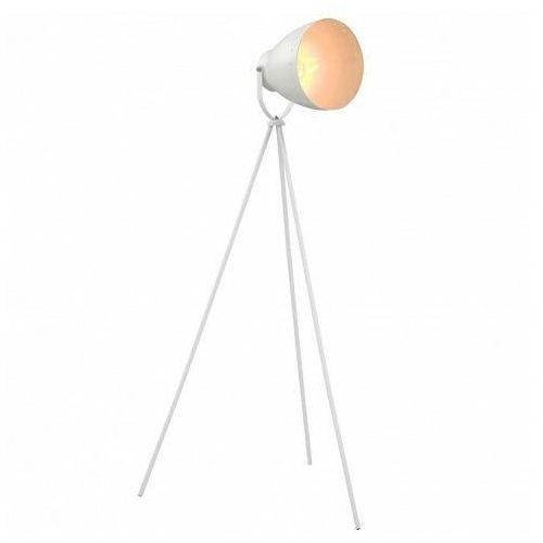 Biała lampa podłogowa z regulowanym kloszem - ex109-vella marki Lumes