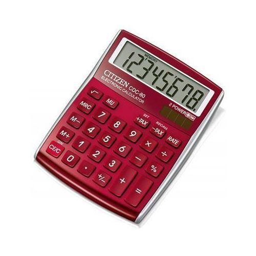 Citizen Kalkulator biurowy cdc-80 rdwb, 8-cyfrowy, 135x80mm, czerwony