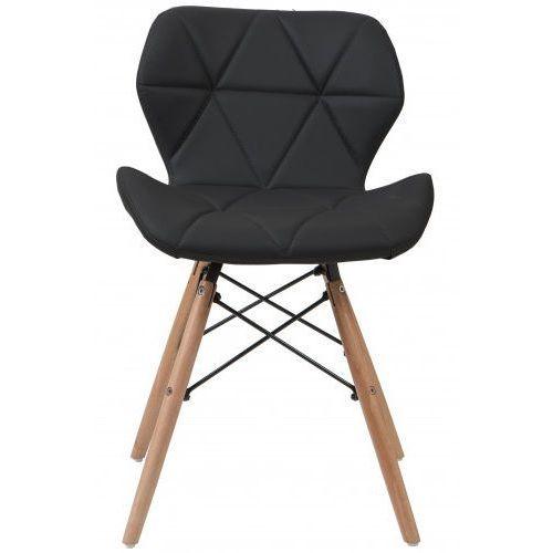 Meblemwm Nowoczesne krzesło skandynawskie art118 popiel welur (9999001149782)