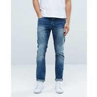 Only & Sons Classic Wash Slim Fit Jeans with Stretch - Blue, slim
