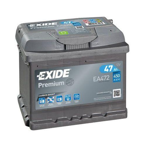 Akumulator Exide 47Ah 450A P+ EA472 Premium