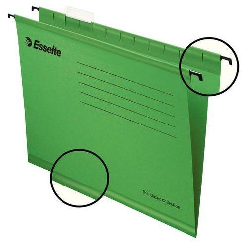 Wzmacniana teczka zawieszana classic zielona marki Esselte