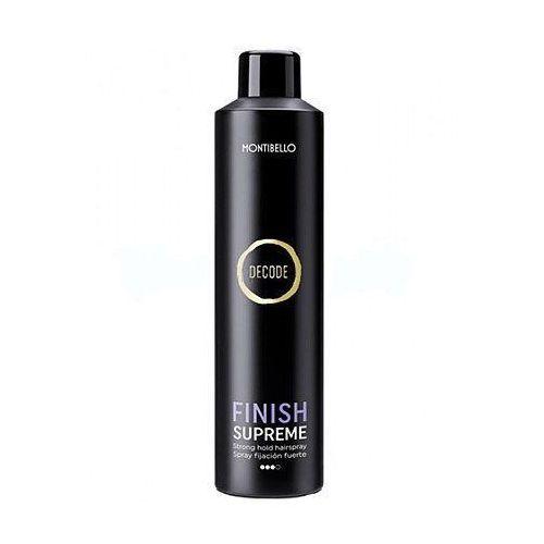 Montibello Finish Supreme, lakier utrwalający, nie skleja i nie obciąża włosów 400ml