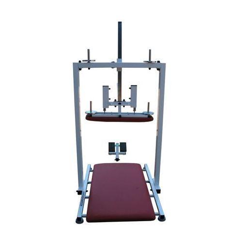 Urządzenie do monitorowanych ćwiczeń kifotyzujących i derotacyjnych oraz ćwiczeń korekcyjno-oddechowych z podkładką pod kolana