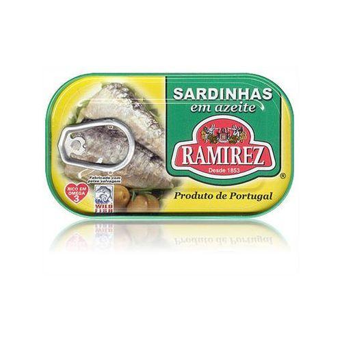 Sardynki portugalskie w oliwie z oliwek 125g marki Ramirez