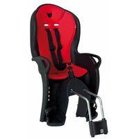 Fotelik rowerowy Hamax Kiss czarny, czerwona wyściółka, na sztyce, kolor czarny