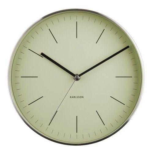 Karlsson 5732OG stylowy zegar ścienny, śr. 28 cm, kolor szary