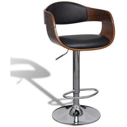 Vidaxl stołek barowy ze skóry syntetycznej, regulowana wysokość (8718475880868)