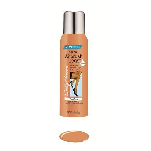 Sally hansen airbrush legs- fluid do nóg, rajstopy w sprayu, 75 ml / 85 g - tan glow (3607344677751)
