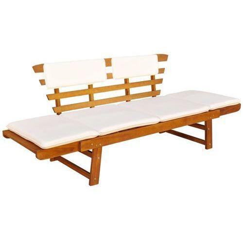 vidaXL 2w1 leżak i ławka ogrodowa z drewna akacjowego 190 x 66 x 75 cm