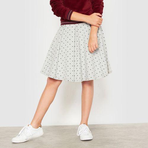Rozkloszowana spódnica z moltonu w trójkąty 10-16 lat