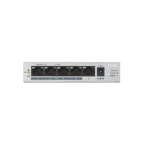 Zyxel Przełącznik GS1005-HP 5 Port Gigabit PoE+ unmanaged desktop 60W, 1_671221