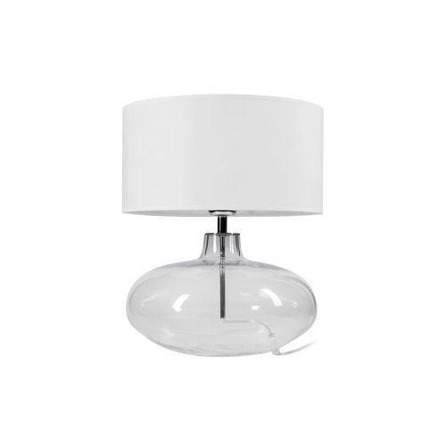 Lampa stołowa SEKWANA białe szkło E27 PREZENT (5908259944753)