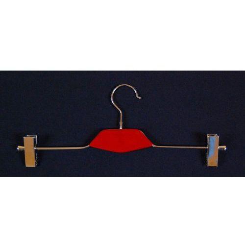 Wieszak metal i drewno (typ WDS dł. 40cm) z klamrami np. do spodni, spódnic