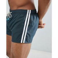 swim shorts side stripe - black marki Oiler & boiler