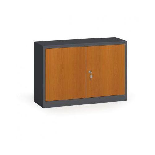 Szafy spawane z laminowanymi drzwiami, 800 x 1200 x 400 mm, ral 7016/czereśnia marki Alfa 3