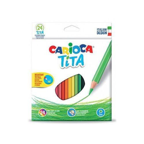 Kredki ołówkowe Carioca Tita 24 kolory (8003511427948)