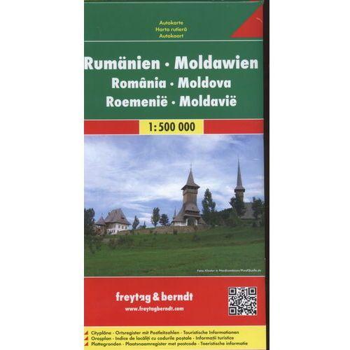 Rumunia, Mołdawia 1:500 000. Mapa samochodowa, składana. Freytag&Berndt (1 str.)