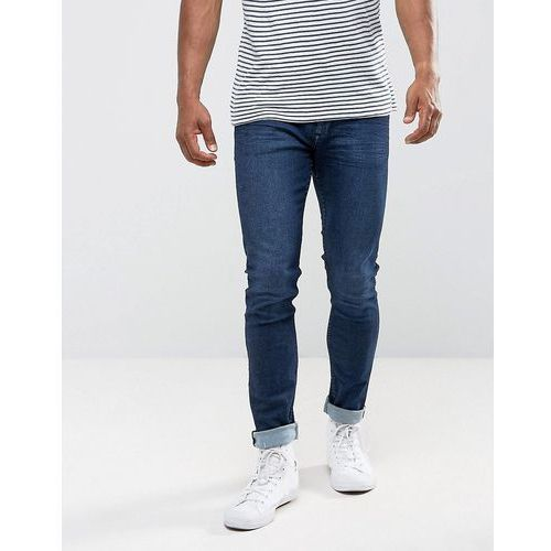 man skinny jeans in dark wash - blue, Mango