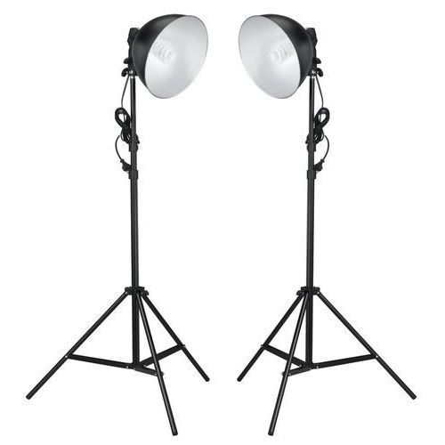 vidaXL Lampy fotograficzne z reflektorem 45 W i statywy.