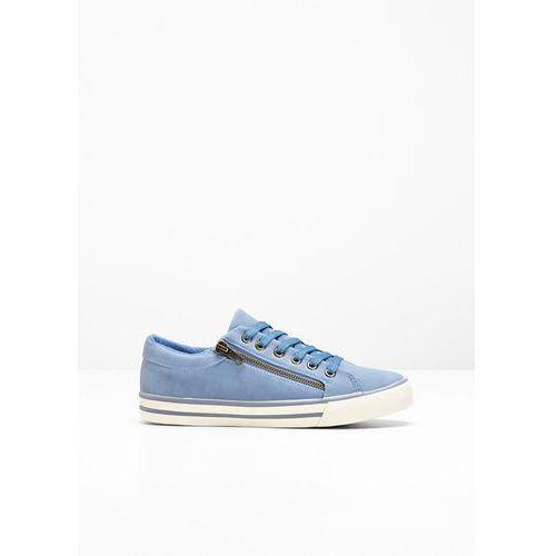 Sneakersy bonprix matowy niebieski, kolor niebieski