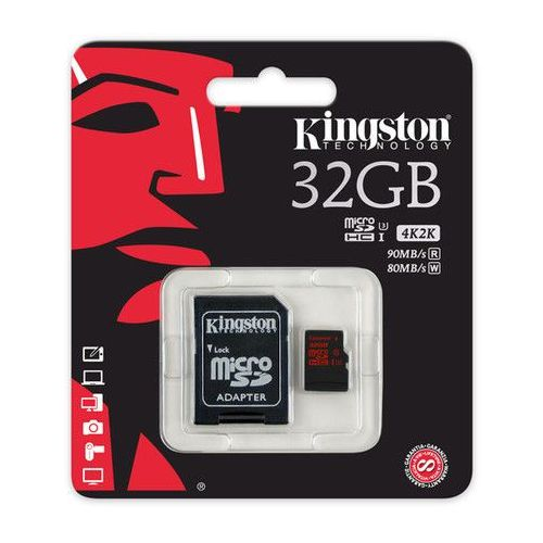 microsd 32gb sdca3/32gb sdhc class10 uhs 3 90/80 mb/s marki Kingston