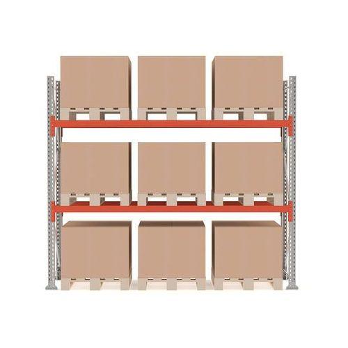 Regał paletowy ultimate, moduł podstawowy, 2500x2750x1100 mm, 9 palet, 500kg/paleta marki Aj produkty