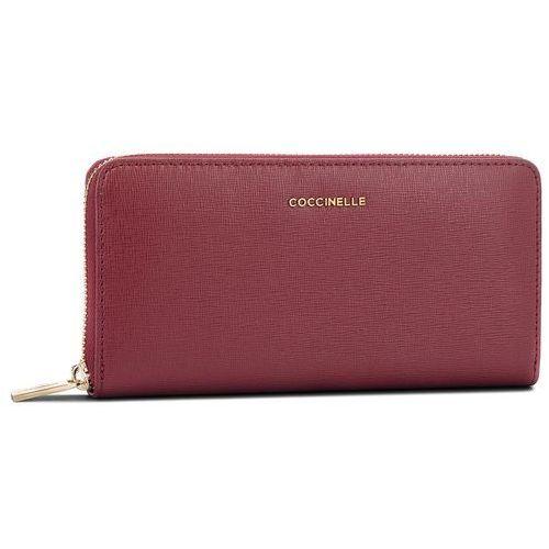 Duży portfel damski - cw1 metallic saffiano e2 cw1 11 04 01 grape r04 marki Coccinelle