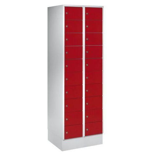 Szafa z małymi schowkami, 20 półek, wys. x szer. 1850x600 mm, kolor drzwi: czerw marki Eugen wolf
