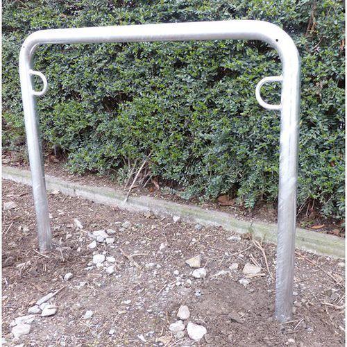 Pałąk wsporczy do rowerów, wys. 850 mm ponad podłożem, do wbetonowania, ocynkowa marki Melzer metallbau gmbh & co. kg