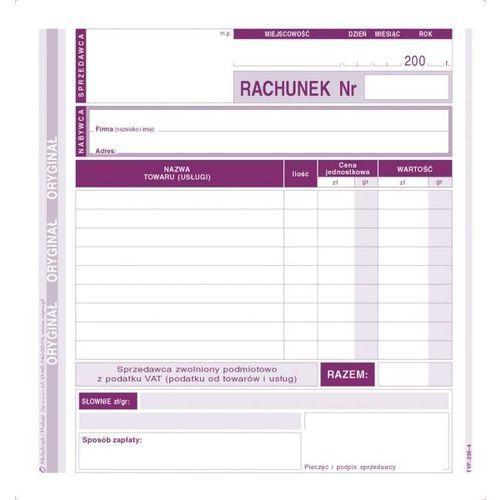 Rachunek dla zwolnionych z vat 2/3 a5 (o+1k) - g0325 marki Michalczyk i prokop