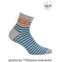 Skarpety Wola Be Activ W94.1S0 Tata & Syn 45-47, szaro-niebieski/greyjeans, Wola