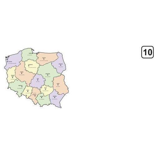 Magnetyczna tablica suchościeralna mapa polski z podziałem na województwa 240 marki Wally - piękno dekoracji